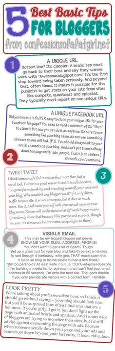 Five Best Basic Tips for Bloggers, via Confessions of a Fat Girl