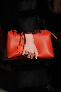 A luxe red clutch - Runway bags Milan Fashion Week Fall 2014 #MFW