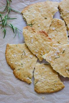 Rosemary and Sea Salt Flatbread. Yes…rosemary. My other love..