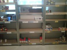 Food Bank Empty Shelves | Bradford, Ontario (30km N of Toronto)    Kindly spread the word by repinning -     Items completely out of stock:  http://www.bbcweb.ca/bbc/food-bank-shelves-empty-literally-bradford/#   companies welcome to donate their over-runs from production lines