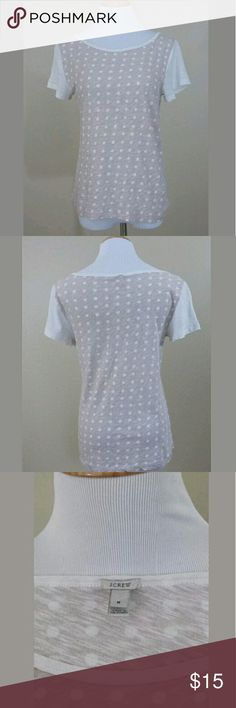 J. Crew Top Sheer Polka Dots Delicate top from J. Crew.  Sheer polka dot pattern in tan and cream.  Women's size M.  No flaws whatsoever! J. Crew Tops Tees - Short Sleeve