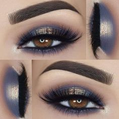 Gorgeous Makeup: Tips and Tricks With Eye Makeup and Eyeshadow – Makeup Design Ideas Eye Makeup Blue, Halo Eye Makeup, Eye Makeup Tips, Makeup For Brown Eyes, Makeup Inspo, Makeup Ideas, Makeup Style, Blue Eyeshadow For Brown Eyes, Makeup Light