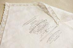 Love this idea - printing invitation on a handkerchief
