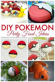 DIY Pokemon Party Ideas - Celebrate all things Pokemon with these fab party food ideas, themed printables and games to make your Pokemon party amazing. These pokemon food ideas would be perfect for a themed kids lunchbox to Pokemon Themed Party, Pokemon Birthday Cake, 8th Birthday, Birthday Parties, Birthday Ideas, Pokemon Party Decorations, Pokemon Decor, Pokemon Torte, Pokemon Balloons