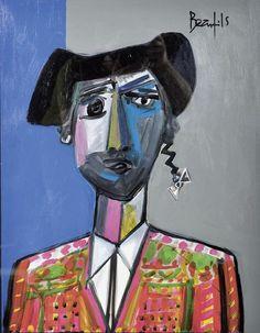 Jean-Luc Beaufils (nacido en 1953) Retrato de Torero, N / D