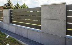 28 Ideas For Exterior Stone Wall Design Fence Compound Wall Design, Modern Fence Design, Stone Wall Design, Garden Retaining Wall, Boundary Walls, Concrete Fence, Concrete Walls, Concrete Design, Building A Fence