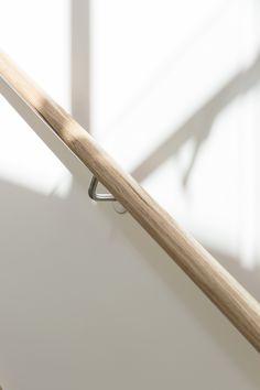 Stair   Staircase   Commercial   Non Slip Treads   Tasmanian Oak   Closed Stair   Carpet   Timber Handrail   Glass Balustrade   Stainless Steel Brackets