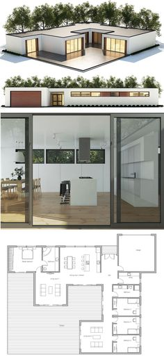 Architecture, Single story home plan