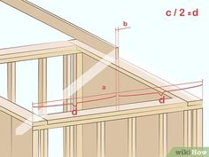 How to Cut Roof Rafters. If you're framing a gable roof on a new house, or building a shed or even a doghouse with a gable roof, you'll need to cut a number of roof rafters. The roof rafters provide integral structural support to the roof. Building A Storage Shed, Diy Storage Shed Plans, Wood Shed Plans, Storage Sheds, Wood Storage, Gable Roof Design, Roof Truss Design, Shed Design, Porch Roof