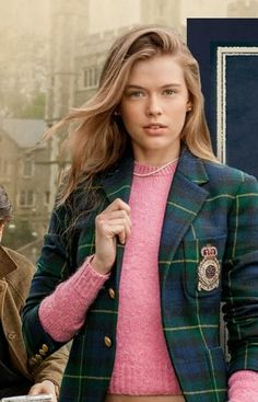 "thepastelprince: "" TPP: Tartan blazer and shaggy dog sweater "" Preppy Girl, Preppy Look, Preppy Style, Ivy Style, Mode Style, Blake Lively, Style Ivy League, Ralph Lauren, Mode Bcbg"