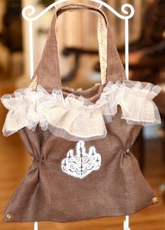 burlap and lace- love it!