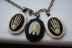 All That's Left Anatomical Bones Bib Style by ApplePiePinUps, $26.00