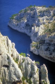 Calanques de Cassis ~ France  Best hiking we've ever done, just make sure you watch for the marked path & don't end up one an 8 mile hike like we did!
