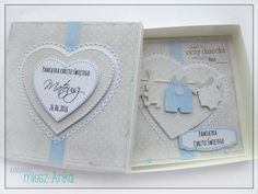 Paper Passion: Kartka w pudełku na Pamiątkę Chrztu Świętego New Baby Cards, Tatty Teddy, Stork, Kids Cards, Christening, New Baby Products, Scrapbooking, Paper Crafts, Gift Wrapping