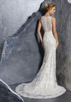 Mori Lee 8217 Kadence Jewel Neck Ed Wedding Gown