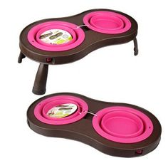 Elevated Collapsible Pet Feeder Bowls