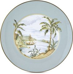 Lenox British Colonial Accent/Salad Plate, palm tree plate, palm plate, tropical plate, Lenox Plate #ad