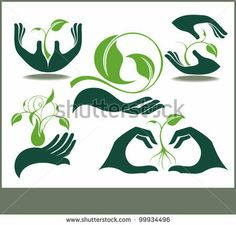 Collection of hands and plants by sunlight77, via ShutterStock