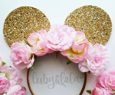 Minnie Mouse Flower Crown Ears Will Add Some Sparkle To Your Next Disney Vacation