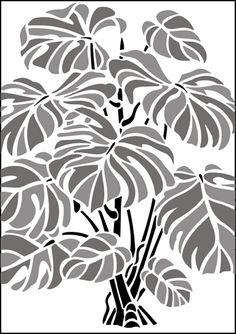 Click to see the actual GR78 - Cheese Plant  stencil design.