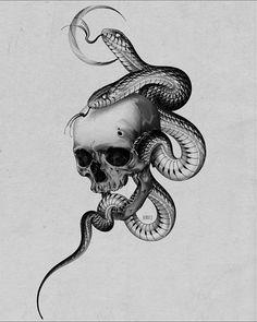 Buddhism Tattoo, Siren Tattoo, Black Snake Tattoo, Snake Drawing, New Tattoo Designs, Cute Tats, Hand Tattoos For Guys, Gaming Tattoo, Mandala Tattoo Design