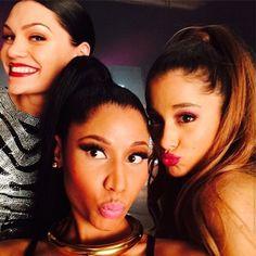Bang Bang ~ Ariana Grande, Nicki Minaj, Jessie J  www.youtube.com/watch?v=0HDdjwpPM3Y   Ariana Grande ~ Born Ariana Grande-Butera June 26, 1993 (age 22) in Boca Raton, Florida, US. American singer and actress
