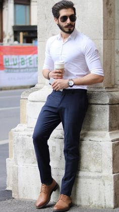 Ideas For Moda Masculina Casual Formal Indian Men Fashion, Mens Fashion Wear, Mens Fashion Blog, Look Fashion, Trendy Fashion, Fashion Shirts, Fashion Advice, Fashion Outfits, Mens Fashion Blazer