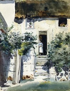 Watercolor - Childe Hassam (American, 1859-1935) Impressionism