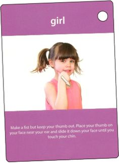 ASL sign for girl  My Smart Hands Flashcards