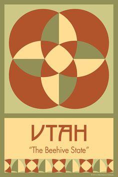 UTAH quilt block - one block for all 50 states