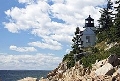 """""""Bass Harbor Headlight, ME"""" by Jay McCarthy. Original Photography, 16x20"""" Matted & Wrapped Paula Estey Gallery http://www.amazon.com/dp/B01C9124E2/ref=cm_sw_r_pi_dp_FY30wb0VW50JG"""