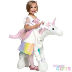 Girl's Costume: Ride-A-Unicorn-Small 4-6A fun costume for your little princess! Unicorn body with suspenders. One size fits up to 4-6.Size: 4-6Age Group: Child