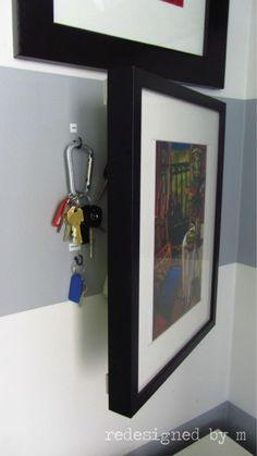 Tiny House Storage, Key Storage, Storage Hacks, Hidden Storage, Storage Ideas, Storage Organization, Storage Solutions, Secret Storage, Kitchen Organization