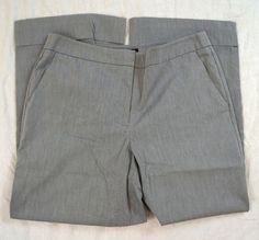 New York & Company City Stretch Cropped Womens Gray Dress Pants Size 6 Grey Dress Pants, Denim Branding, Big Star, Talbots, Casual Shorts, New York, City, Jeans, Fashion