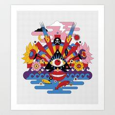 J-pop Art Print by koivo - $22.88