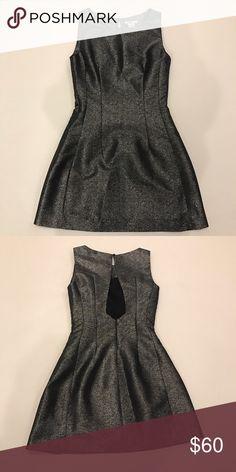 Bar III Sparkle Dress Silver shine fabric. Worn once. Bar III Dresses Mini
