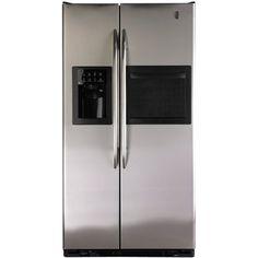 Buy Now! GE 220-240 Volt 50 Hz 90cm Side/Side Stainless Steel Black Color #Refrigerator (Our Price: $2299.99).