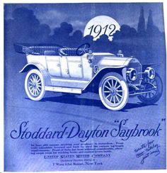 "1912 Stoddard Dayton ""Saybrook"" Automobile Advertisement"