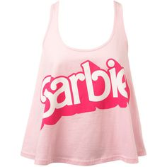 Pink Barbie Slogan Sleep Vest ($24) ❤ liked on Polyvore