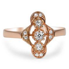 18K Rose Gold The Zaida Ring, smalltop view