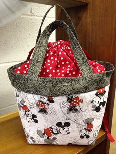 Mickey Mouse lunch bag / tote only one left on Etsy, $14.95