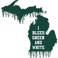 Bleed Green and White