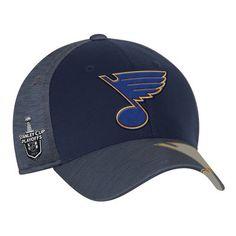 sneakers for cheap 89d40 7e285 Men s Reebok Blue St. Louis Blues 2017 NHL Stanley Cup Playoffs Participant  Flex Hat St
