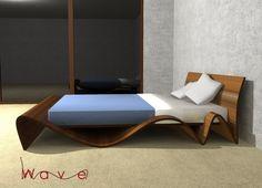 Formabilio - Wave è un letto componibile in legno. Già guardandolo la sua forma sinuosa ci si rilassa e si comincia a sognare. Sogni d'oro naturalmente....