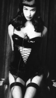 Janice Dickinson pinup (posing as Bettie Page). This is from a photo spread she did in an Italian fashion magazine back in the '90s.