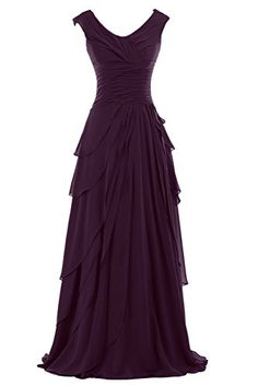 Sunvary Woman A-line Ruffled Chiffon Mother of the Bride Dresses Bridesmaid Dresses Prom Gowns for Evening Party Long US Size 8- Grape Sunvary http://www.amazon.com/dp/B00M8QSIYO/ref=cm_sw_r_pi_dp_LuMVub0EB2EAN