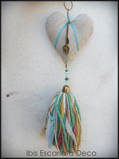 Corazón colgante by Ibis Escarlata Deco