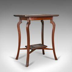 Antique Side Table, Art Nouveau Overtones, English, Mahogany, Circa 1900