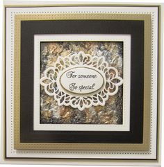 PartiCraft (Participate In Craft): For Someone So Special. Using the Heated Pearl Technique. Sue Wilson Dies, Spellbinders Cards, Die Cut Cards, Man Birthday, Paper Cards, Craft Tutorials, Scrapbook Cards, Cardmaking, Christmas Cards