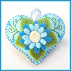 Happy Heart Blue Sunflower